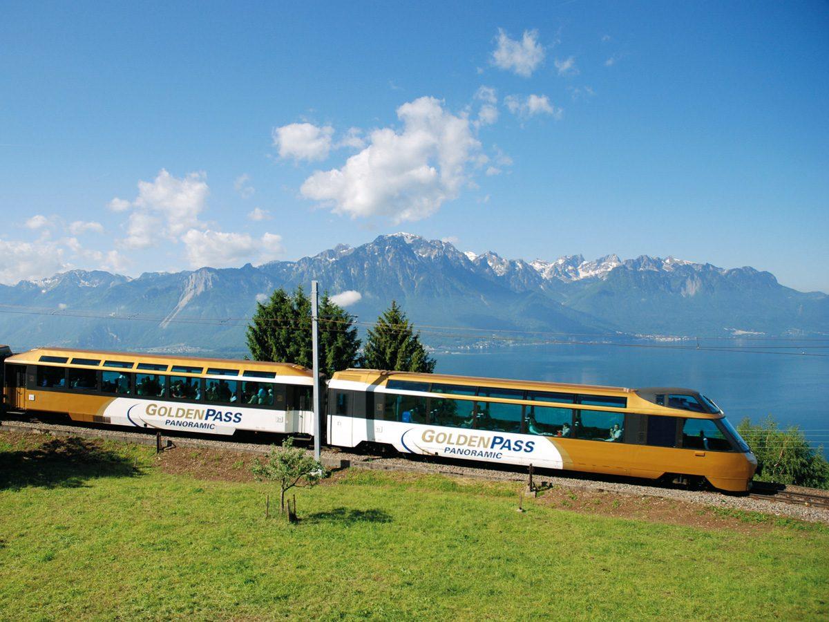 Von den Alpen ans Mittelmeer – Golden-Pass-Express